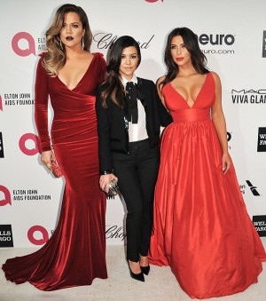 The Kardashians at Elton John's Oscar-Viewing Party