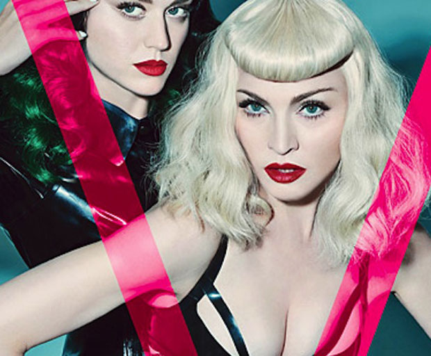 Madonna, Katy Perry, V Magazine, Dominatrix, lingerie, celebrity skin, S&M