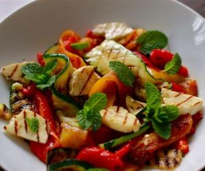 dinner, dinner recipe, mediterranean meals, haloumi, haloumi salad