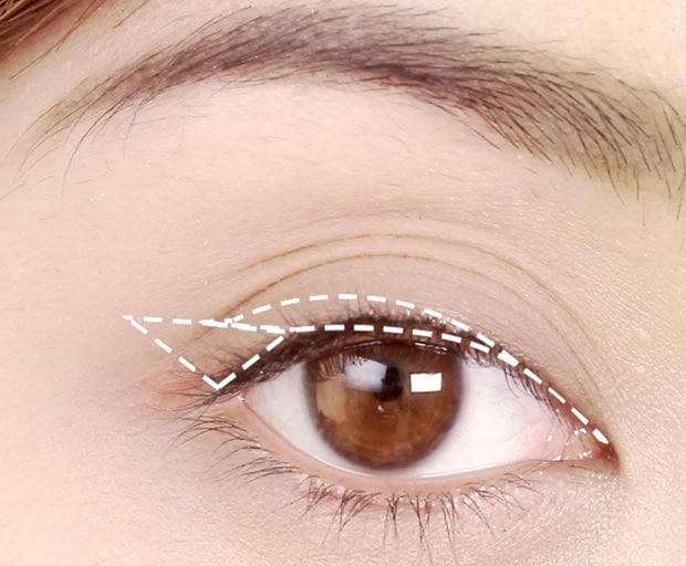 liquid eyeliner, makeup look, winged liner, cat eye, how-to