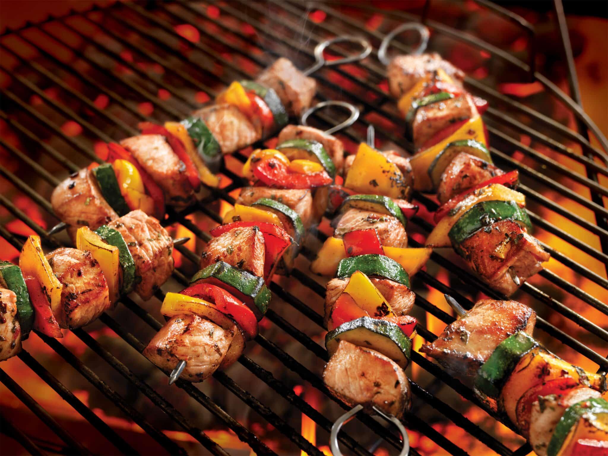 Pork, Vegetable, Kebabs, Herb Marinade, Recipe, healthy dinner, healthy dinner ideas