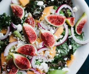 Fig and Melon Salad with Creamy Lemon Vinaigrette