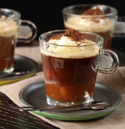 caramelito affogato, coffee, Nespresso, barista, cafe, affogato