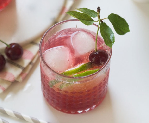 Sour Cherry Gin and Tonic Recipe