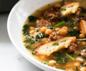 Kale, Chickpea and Chicken Soup