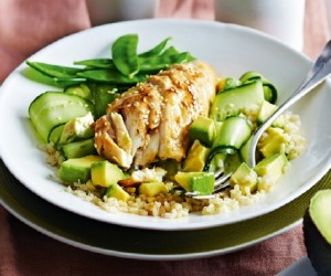 Miso Glazed Fish With Sesame Brown Rice Recipe