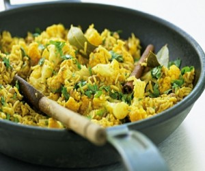 Low Fat Lentil And Cauliflower Pilaf