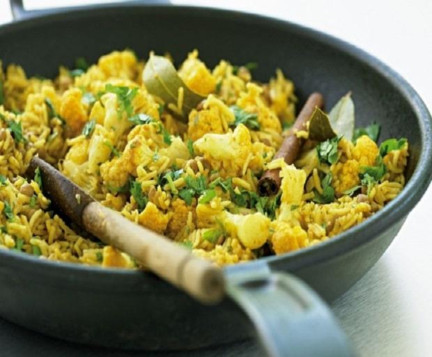 Low Fat Lentil And Cauliflower Pilaf
