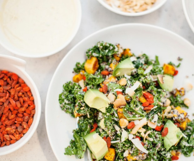 Kale, Sweet Potato and Hazelnut Salad