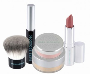 mineral make-up, all-natural cosmetics, Bare Blossom,