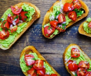 Avocado and Cherry Tomato Toast