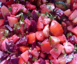 easy recipe, salad recipe, healthy recipe, beetroot salad recipe