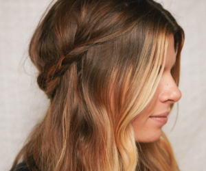 Half-up Crown Braid Hairstyle