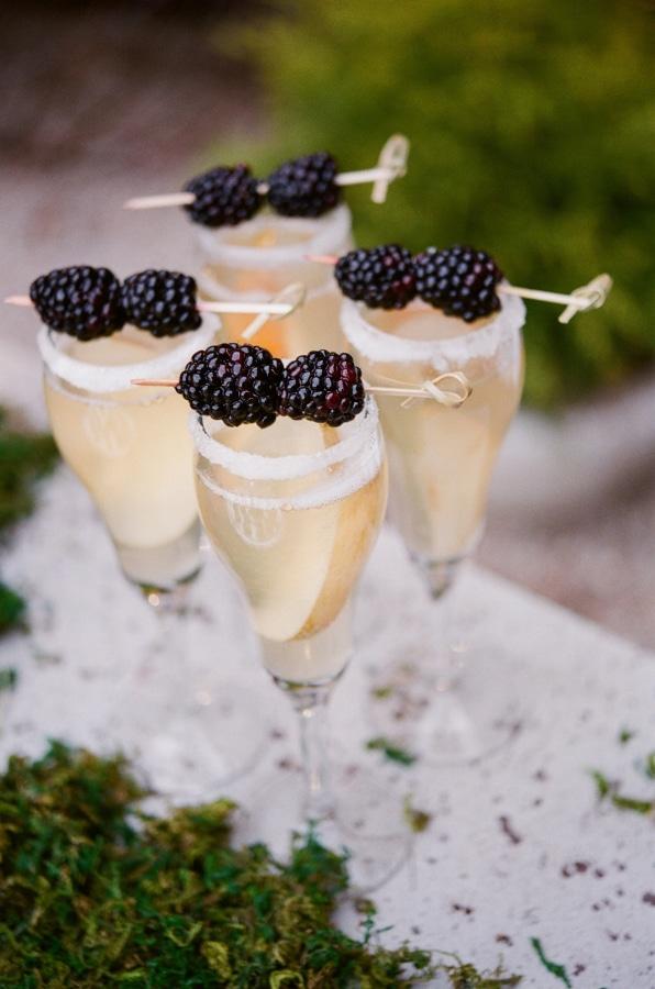 Blackberry Champagne Cocktail Recipe — Dishmaps