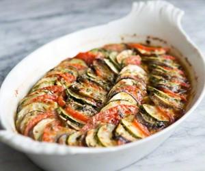 Tomato, Eggplant and Zucchini Gratin