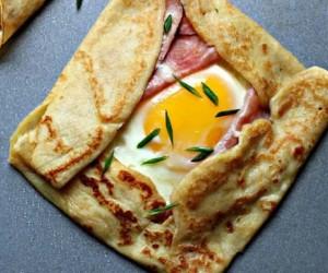 Ham and Egg Crepe Recipe