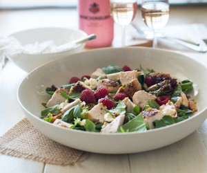 Chicken, Feta and Almond Salad