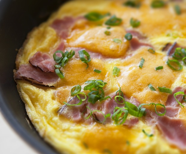Healthy Ham and Pasta Frittata