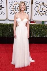 rosamund pike red carpet white dress