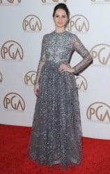 Felicity Jones red carpet blue dress