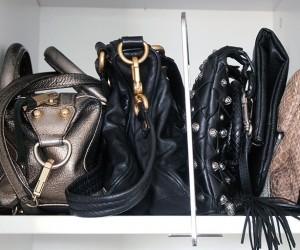 handbags shelf storage