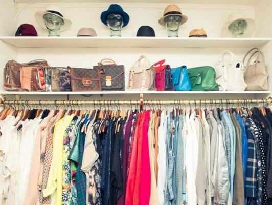 handbags storage shelf