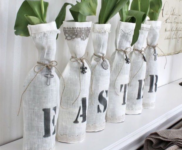easter decoration vases