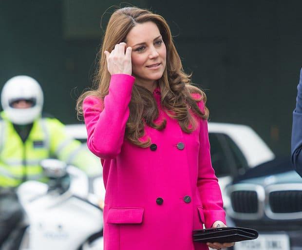 duchess, kate, pink coat, royal family, beauty, maternity style