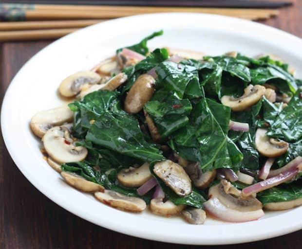 Healthy. Mushroom Stir Fry, Stir-fry, Dinner Recipe, Greens