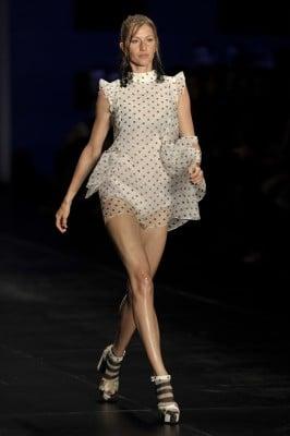 Brazilian supermodel Gisele Bundchen pre