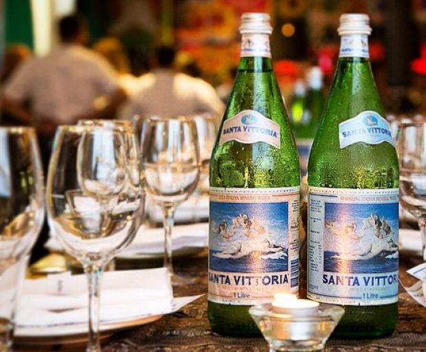 Santa Vittoria Water, sparkling water, mineral water, natural water, cocktails