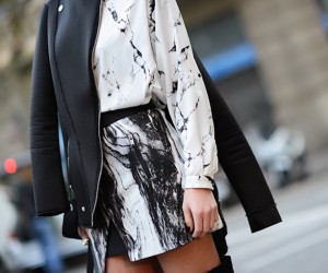 marble print fashion