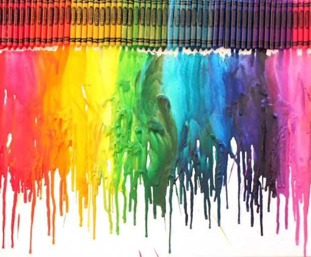 colour crayons meltdown