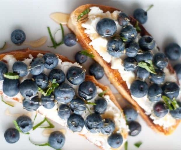 Fresh Ricotta and Blueberry Ciabatta Recipe