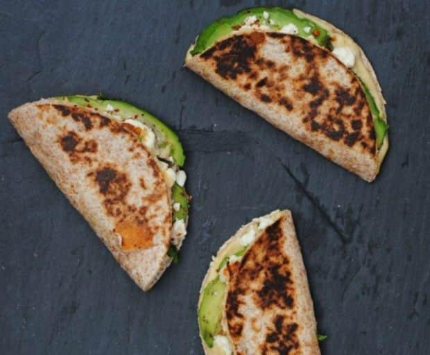 Feta, Hummus and Avocado Wraps Recipe