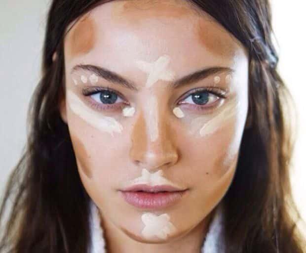 makeup tips, makeup tricks, makeup, beauty, contouring, plumping, bronzer