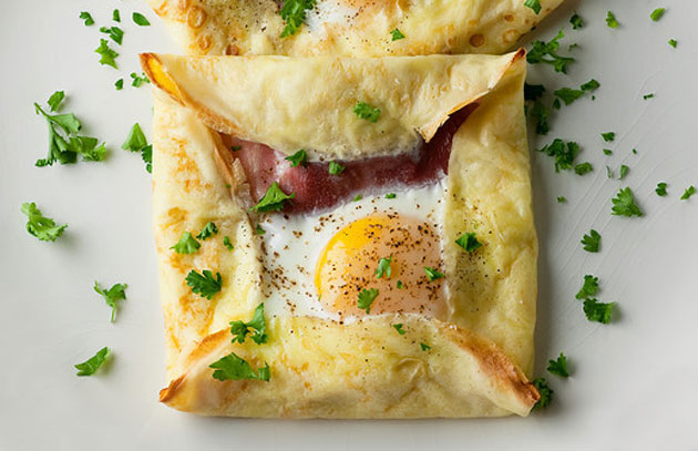ham-and-egg, pancakes, food, cooking