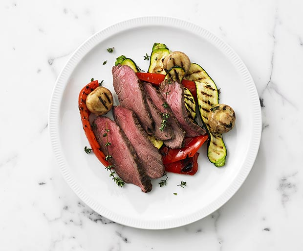 beef recipes, My Kitchen Rules, Jac and Shaz, chargrilled vegetables, healthy meals, quick and easy recipes, beef rump