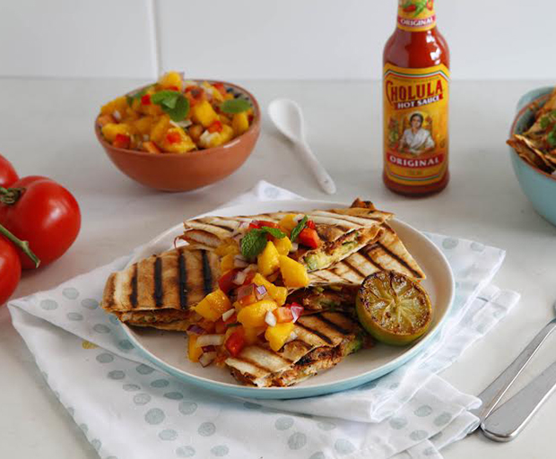Chicken Quesadilla, Mexican, Mexican fiesta, chicken recipes, Quesadilla, hot sauce, dinner party
