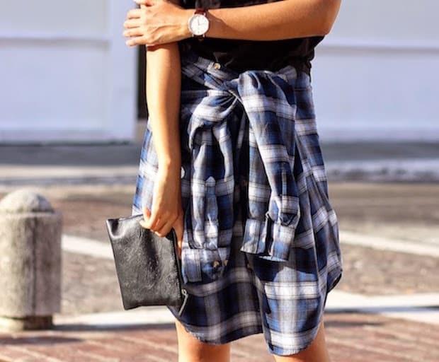 07-plaid-shirt-worn-as-skirt-fall-how-to-wear-brunette-braid-blogger-mexico-fashion-it-girl-genesis-serapio