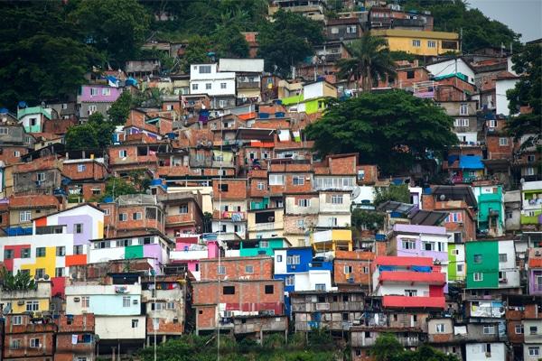 A slum area in Rio.