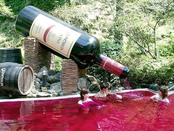 Wine Bath Japan - Pinterest