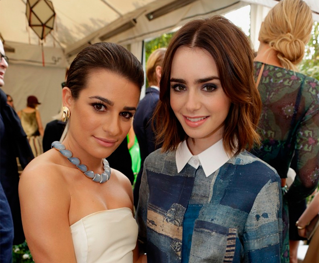 Get The Look Lily Collins Textured Waves Hairstyle Shesaid