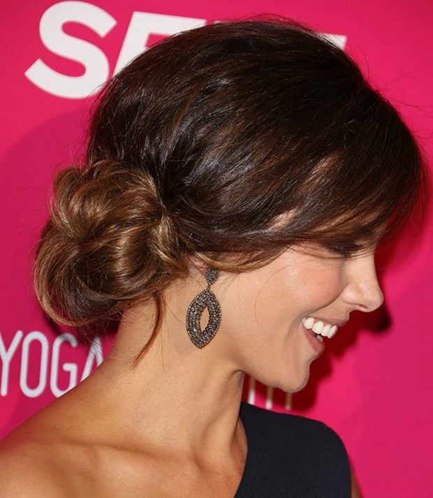 Get The Look Kate Beckinsales Chic Updo Hairstyle Shesaid
