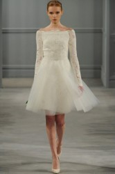 Spring Wedding long sleeves Gown