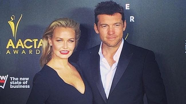 Lara Bingle, Sam Worthington, Hollywood, New York City, red carpet