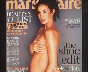 pregnant, Marie Claire, Megan Gale, cover star, magazine