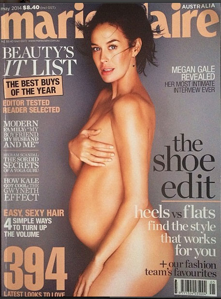 Megan Gale, Marie Claire, magazine, cover