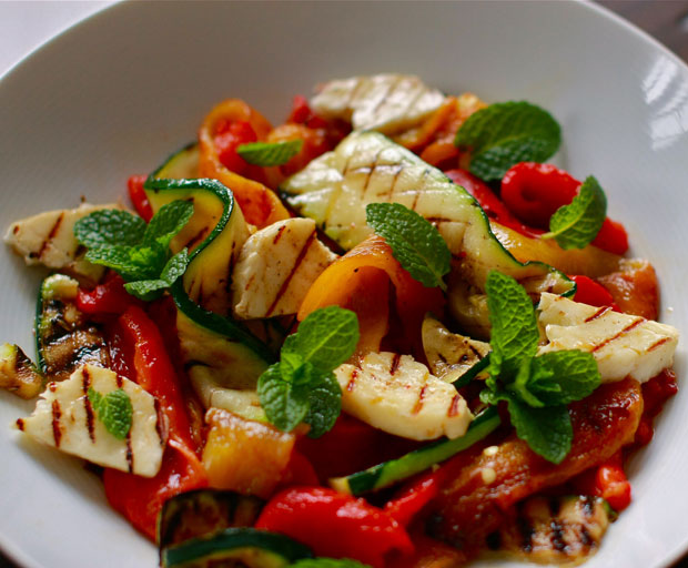 dinner, dinner recipe, mediterranean meals, haloumi, haloumi salad