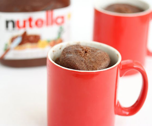 dessert, dessert recipes, Nutella, Nutella Mug Cake, Chocolate, hazelnut
